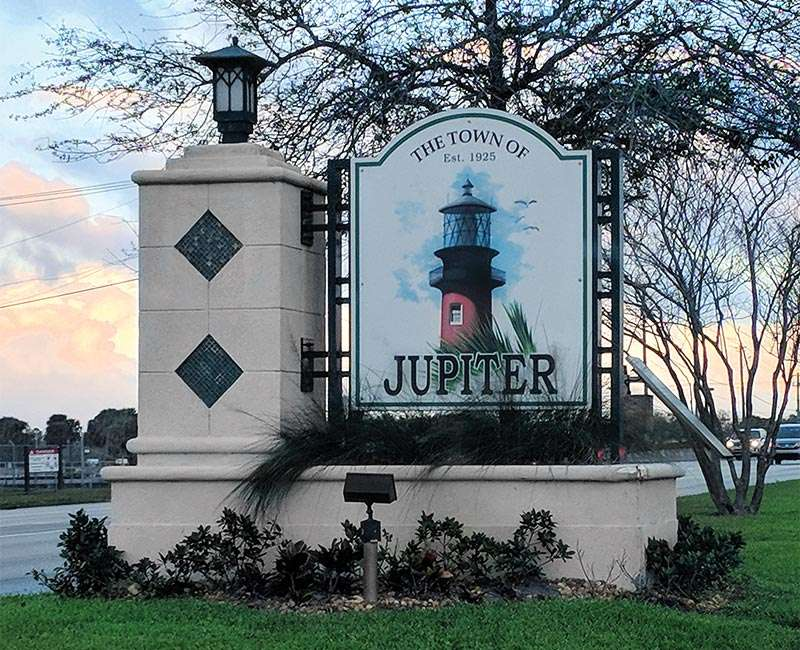 Jupiter, Florida Welcome Sign