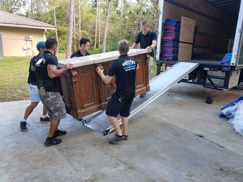 Professional Local Movers Loading a Moving Truck